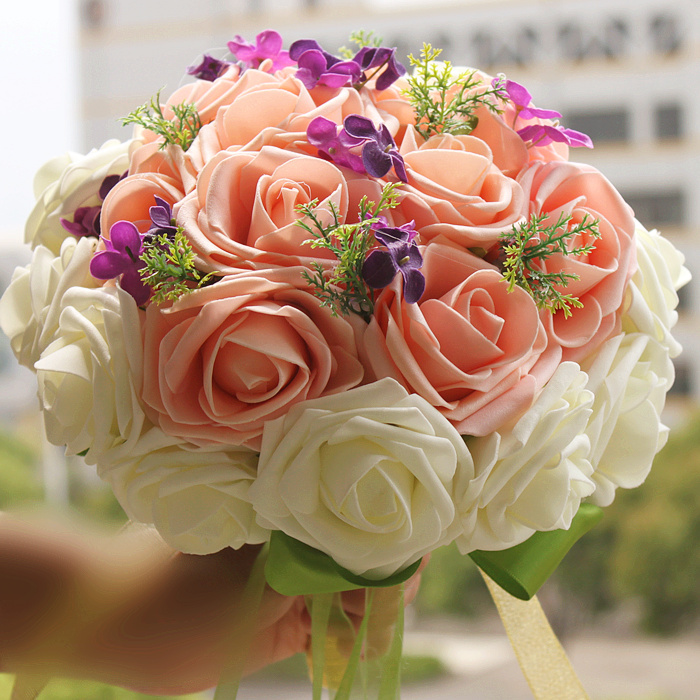 Wedding Flowers Cheap Online: 2017 Cheap Wedding/Bridesmaid Bouquets New Arrival Bridal