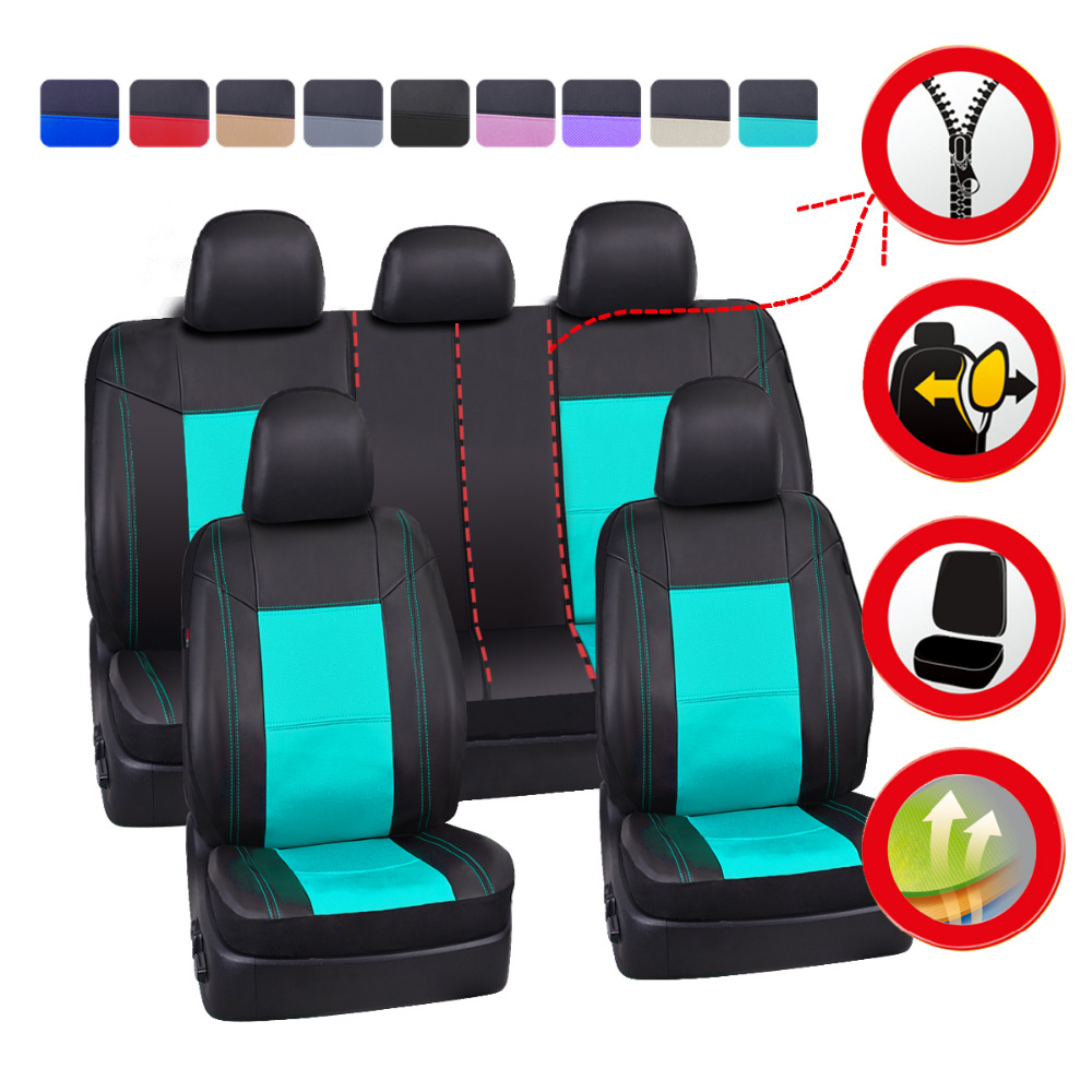 NEW ARRIVAL Two set Black and blue color CAR PASS Delux Sideless Universal Fit Car Seat Cover FOR 1 SET With carriage Bag