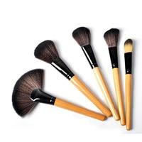 24 pz Pro Makeup Insieme di Spazzola Professionale di Trucco Tool Kit Rosa Legno di Colore Nero Comestic Spazzole di Trucco
