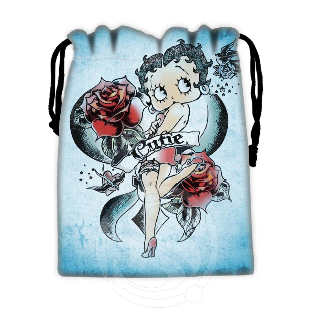 H-P648 Custom Betty Boop#4 Drawstring Bags For Mobile Phone Tablet PC Packaging Gift Bags18X22cm SQ00806#H0648