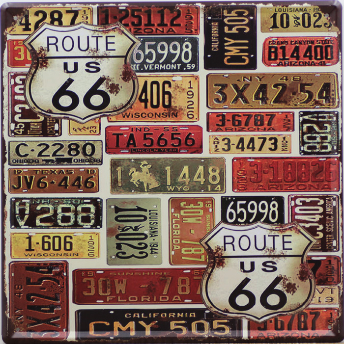 Wonderful USA MOTHER ROAD ROUTE 66 Vintage Iron Painting 30*30cm Tin Sign  PU46
