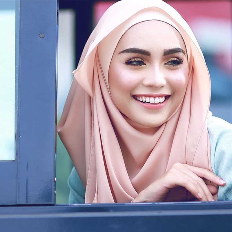 יוקרה בועת שיפון מוסלמי צעיף ראש צעיף רך רגיל לעטוף אסלאמי טורבן צעיף femme musulman מיידי חיג 'אב עבור נשים
