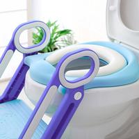 Baby Child Potty Toilet Trainer Soft Seat Step Stool Ladder Adjustable Training Chair