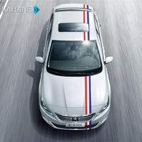 French Flag Stripe Car Body Hood Vinyl Sticker Decal Styling For Audi A3 A4 A6 B5