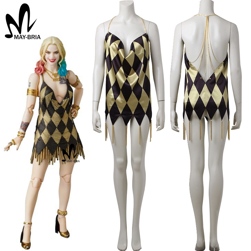 Harley Quinn sexy dress Halloween costumes for adult women cosplay Suicide Squad Harley Quinn cosplay costume custom made suicide squad harley quinn boots bota accessories black women for harley shoes harley quinn costume cosplay suicide squad