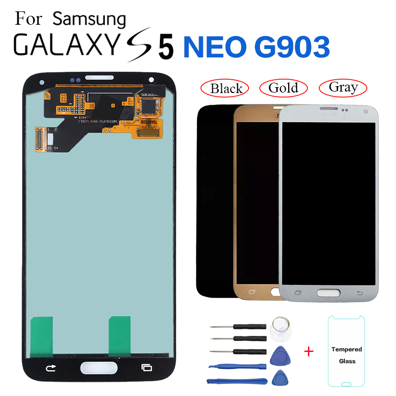 AMOLED For Samsung S5 Neo G903 G903F LCD Display Screen replacement for Samsung Galaxy S5 Neo SM-G903M G903W lcd display module(China)