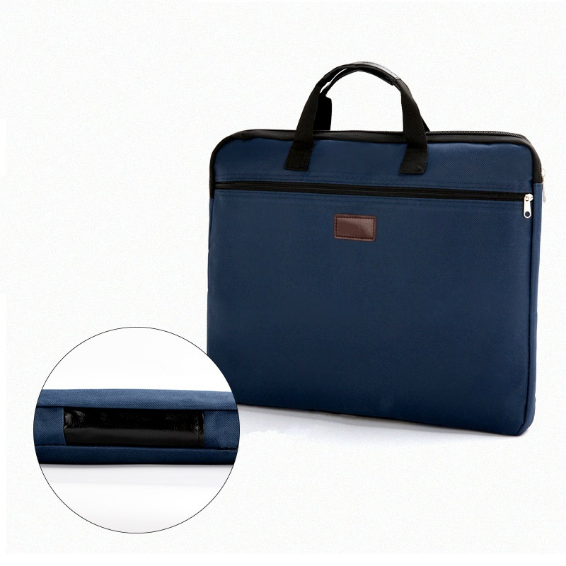 Portable Document Bag Canvas A4 Office Zipper Bag Large Capacity Men Women Handbag Multi-layer Information Bag Briefcase Meeting
