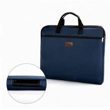 Portable document bag canvas A4 office zipper bag large capa