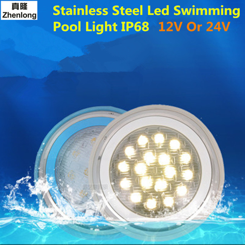 US $42.92 26% OFF|Zhenlong 6W 9W 12W 18W 36W RGB Poollight Stainless Steel  Led Swimming Pool Light IP68 12V Outdoor Lighting Underwater Light-in LED  ...