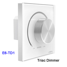 цена на Wall Mount Knob E610 1-10V knob panel Dimmer;E6-TD1 LED Triac Dimmer Controller 220V for LED Light Incandescent Lamp