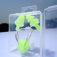 1 Set Nose Clip EarPlugs Waterproof Soft Silicone Swimming Sport Earplug Nose Clip Tool Diving Water Sports Swimming Accessories 2 set waterproof soft silicone swimming set nose clip ear plug earplug travel sleep prevent noise tool selection of color