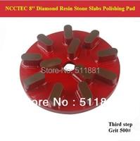 3rd Step 8 Diamond Polishing Pads For Stone Slabs 200mm Resin Marble Granite Basalt Slab