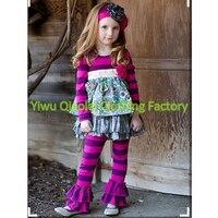 Spadek halloween zestawy dziewczynek Boutique outfit Hurtownie Boutique zestawy czerwony dziewczynka wzburzyć polka remake stroje