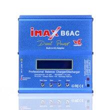 Carregador de Bateria Descarregador com Lcd 80 W Imax B6 AC B6ac RC Balanço Nimh Nicd Bateria de Lítio Carregador Equilíbrio Digital Tela