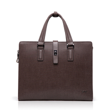 BVP High-end 100% Genuine Leather Cowhide Men's Business Laptop Briefcase Portfolio Tote Attache Messenger Document Bag T1012
