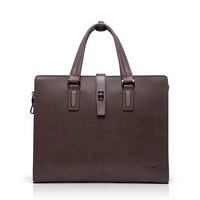 BVP High end 100% Genuine Leather Cowhide Men's Business Laptop Briefcase Portfolio Tote Attache Messenger Document Bag T1012
