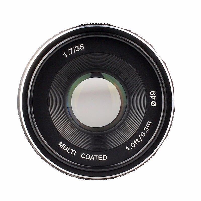 Meike MK-FX-35-1.7 35mm f 1.7 Large Aperture Manual Focus lens APS-C For Fujifilm Mirrorless cameras XT1 X-E1 etc kaxinda metal 35mm f 1 7 lens for m4 3 nex fx eosm n1 p q e1 aps c mirrorless