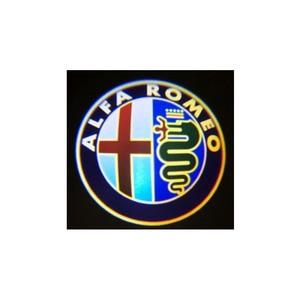 Image 4 - 2 قطعة موضة جديدة LED باب السيارة ترحيب ضوء شعار العارض ل ألفا روميو جوليا جيوليتا ميتو Stelvio بريرا 147 156 159