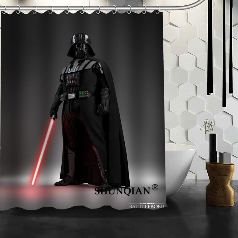Star Wars Shower Curtain Customized Bath Curtain Waterproof Polyester Fabric Curtain For Bathroom