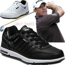 Аутентичные туфли для гольфа s мужские водонепроницаемые противоскользящие высококачественные мужские спортивные кроссовки дышащая обувь Chaussures туфли для гольфа Большие размеры 46