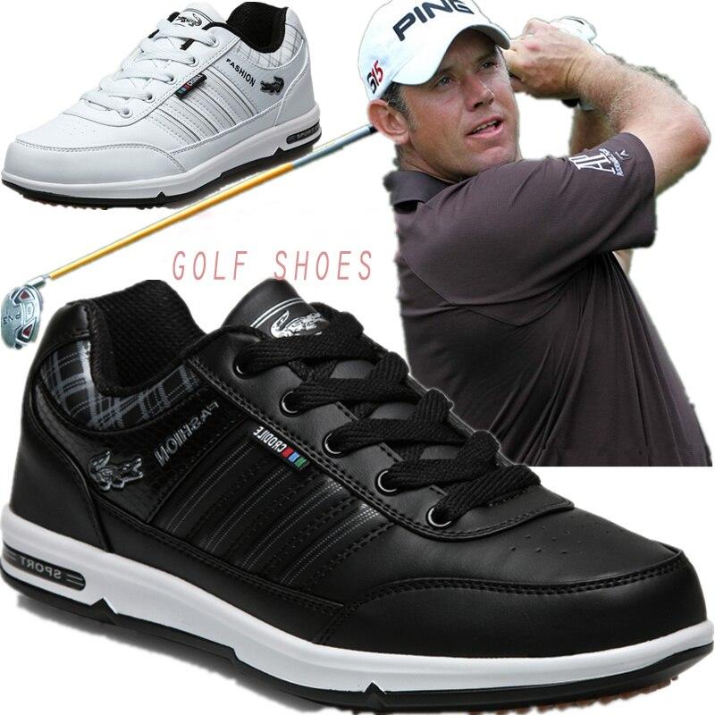 Chaussures de Golf authentiques hommes imperméables anti-dérapant haute qualité Sport masculin baskets Chaussures respirantes Chaussures de Golf grande taille 46