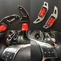 Um tipo de Liga de Alumínio Paddle Shift Gear Volante Adesivo Guarnições cobrir Para Mercedes classe ML W166 2012 2013 2014 2015 Benz