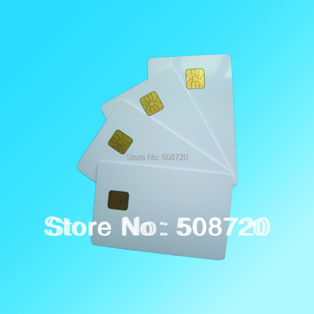 10pcs ISO 7816 ATMEL 24c64 PVC Contact Smart IC Card Free Shipping