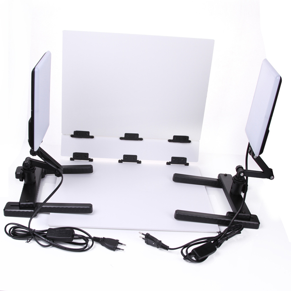 NanGuang LED Photo Light Lamp CN-T96 2 Kit 220V Photographic Lighting with Mini Shooting Table & Background Paper KitNanGuang LED Photo Light Lamp CN-T96 2 Kit 220V Photographic Lighting with Mini Shooting Table & Background Paper Kit
