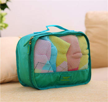 8 Set Packing Cubes with Shoe Bag   Compression Travel Luggage Organizer