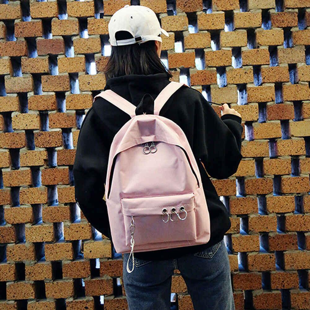 2019 חדש סגנון אופנה חמה לשני המינים נשים גברים תרמיל בית ספר רוכסן ציצית כתף תיק תרמיל בד נסיעות מוצק