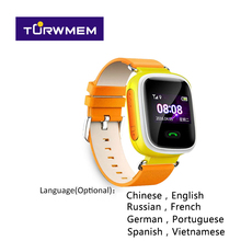 GPS Tracker Watch Q60 smart baby watch tracking for Kid Safe SOS Call Anti Lost reminder Wearable tape device Kids Watches