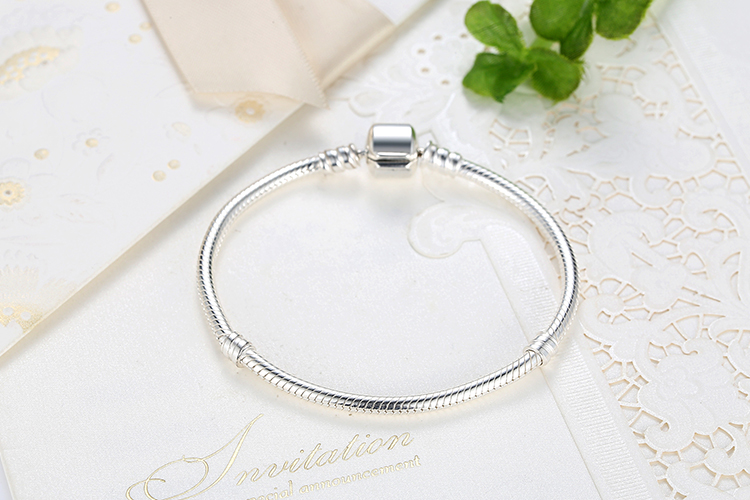 dc870a5660ce BISAER genuino pulsera de plata 925 de joyería de cadena de ...