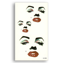 Water Transfer Conversion Fake Tattoo Disposable Waterproof Temporary Stickers Flash Marilyn Monroe Men Women Sex Body Art(China)