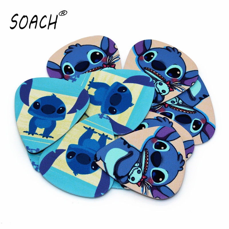 SOACH 10pcs 0.71mm  High Quality Two Side Earrings Pick DIY Design Guitar  Guitar Picks European And American Cartoon Characters