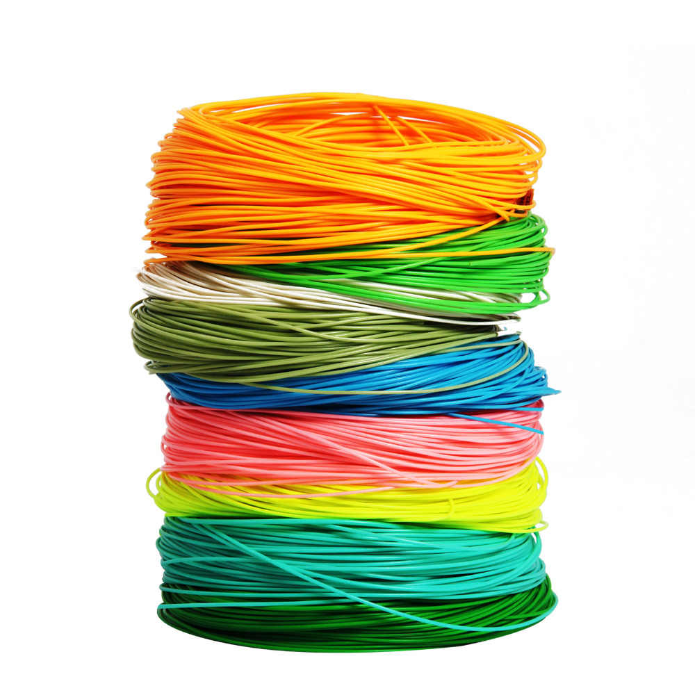 WF 2/3/4/5/6/7/8/9F 100FT Fly Line verde/naranja/azul/amarillo Weight Forward Floating Nylon Fly sedal