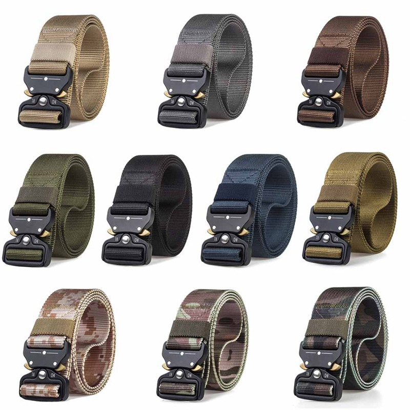 New Arrival Military Equipment  Army Belt Men's Heavy Duty Soldier Combat Tactical Belts 100% Nylon Waistband