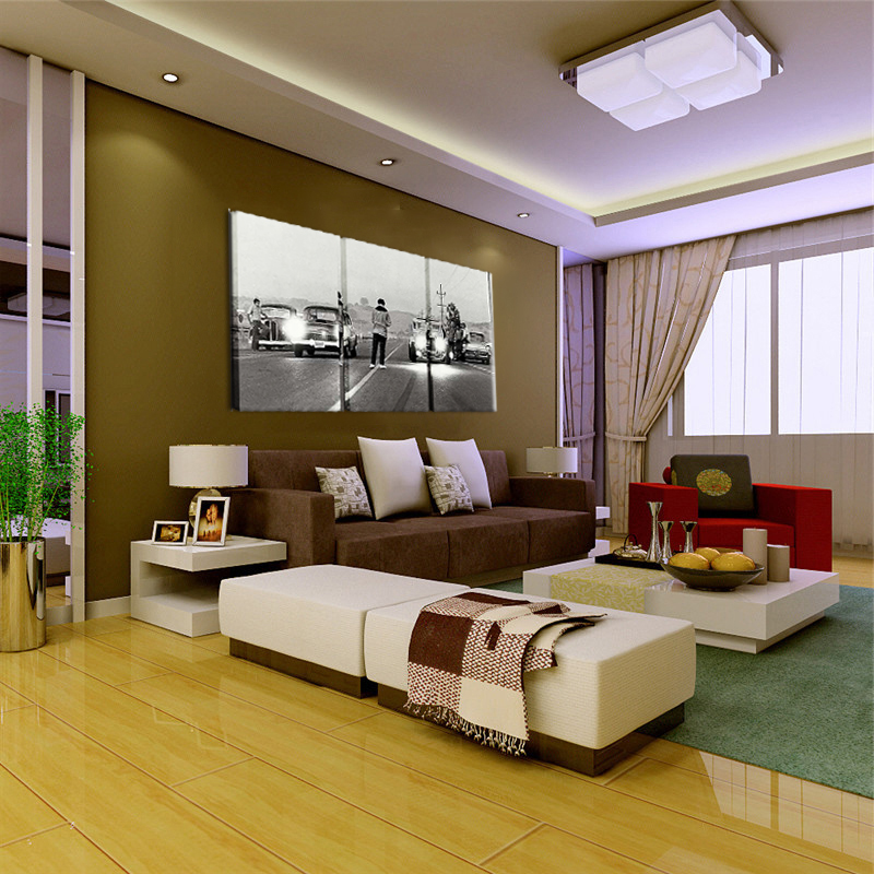 Modern HD Printed Painting Canvas Home Decor 3 Panels Movie Once Upon A Time In America Poster Frame Car Modular Pictures Calligraphy From