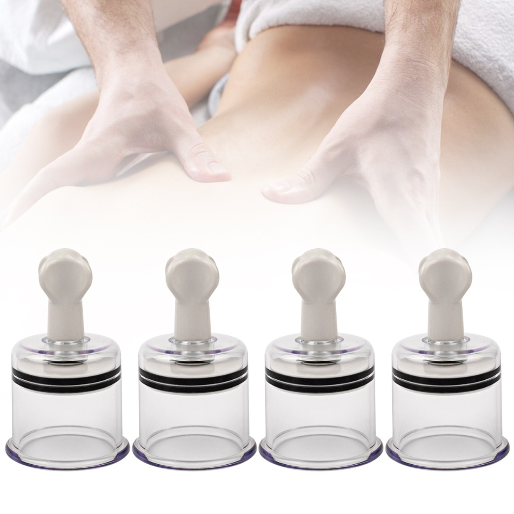 4pcs Easy Twist Suction Therapy Cupping Chinese Traditional Pump Jar Body Massage Cups Sexy Stimulator Breast Enlarger Vibrating