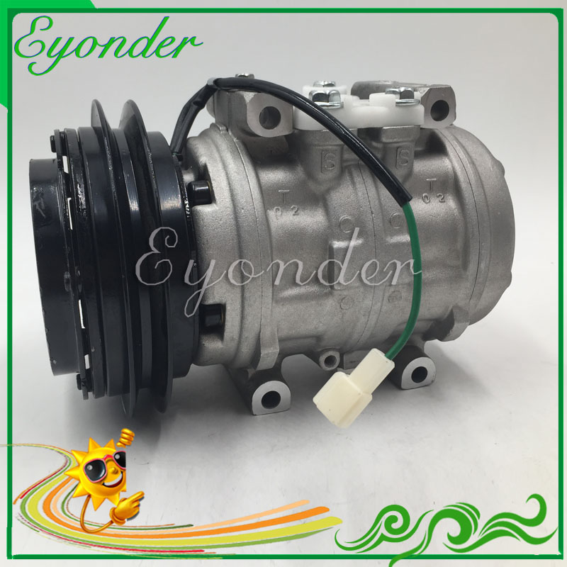 A C AC Aircon Air Conditioning Compressor Cooling Pump 10P13C With Clutch Pulley PV1 Pulley for