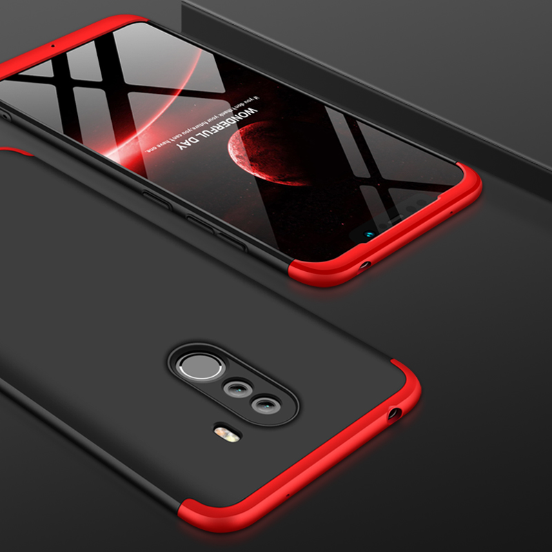 For Xiaomi Pocophone F1 Luxury 3-IN-1 Case 360 Degree Full Shockproof Frosted Shield Hard Back Cover Case For Xiaomi PocophoneF1 (8)