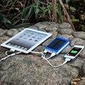 20000 mAh Carregador Solar Portátil Dual USB Universal Banco do Poder De Bateria Externa para iphone 5s 6 6 s 7 plus para samsung telefone celular