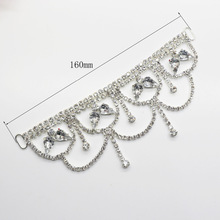 1pcs 1.6cm Rhinestone Bikini Connector / Copper Buckle Chain Fit for Swimming Bridal Wear Dress