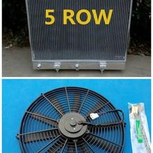 5 рядов, Алюминий радиатор+ кулер вентилятор для Land Rover Range Rover P38 2.5TD дизель турбо для BMW двигателя 1994-2002 95 96 97 98 99 00 01
