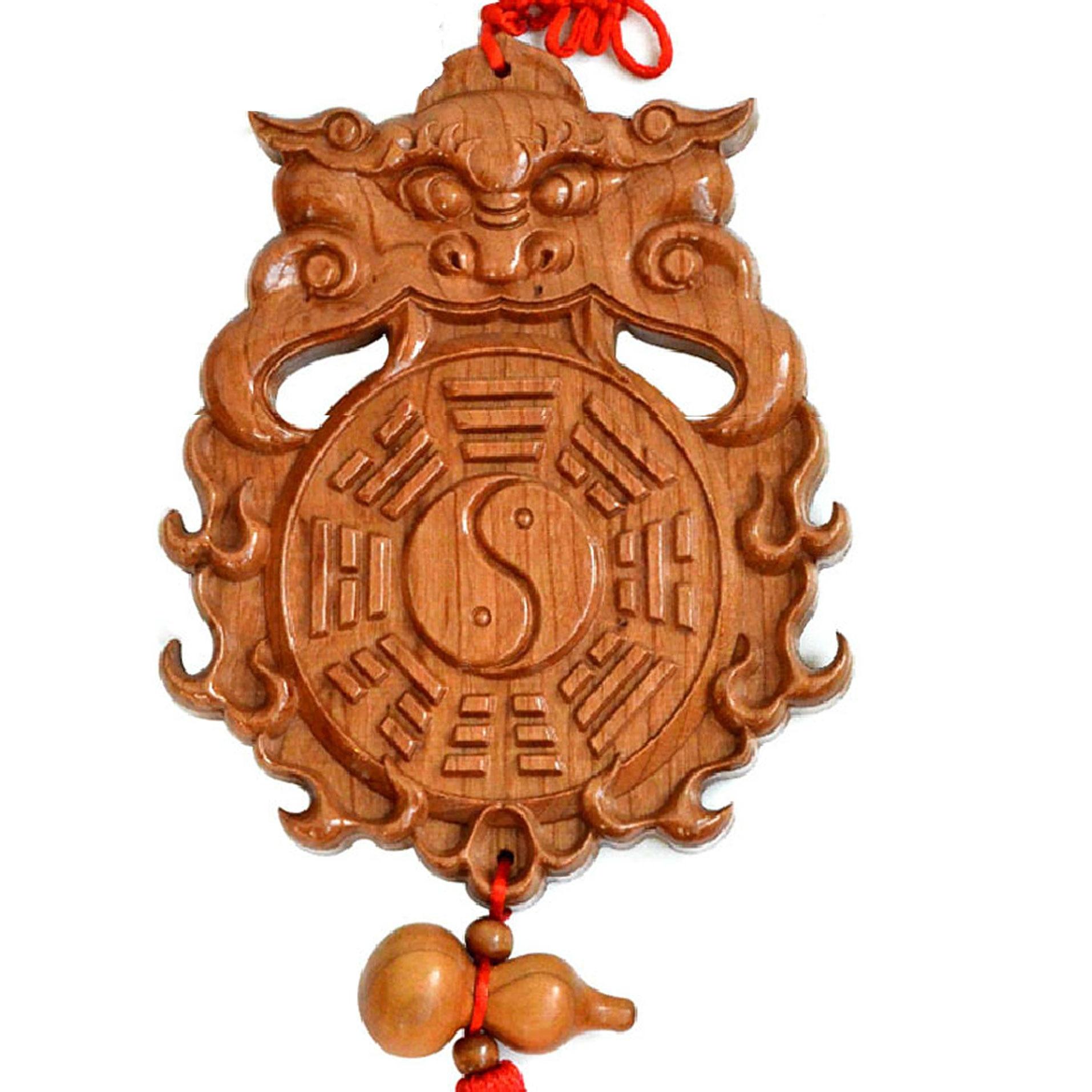 shoutou bagua miroir salle de bains pendentif gourde sur la porte de la porte de la - Feng Shui Chambre Miroir