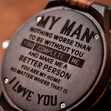 Customized Woody Engraving Personalized Men's Watches