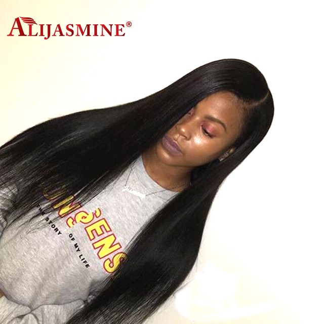 Alijasmine Lace Front Human Hair Wigs With Natural Hairline 180
