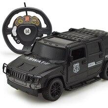 Гравитационная Индукция rc рулевое колесо дистанционное управление автомобили открытая дверь Hummer внедорожный автомобиль с огнями детские электрические игрушки