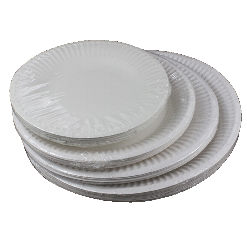 50 piese Unpainted White Plastic Re-usable Disposable Round Thermoformed Plates Bowls Party Event Cheap Birthday Party Supplies ...