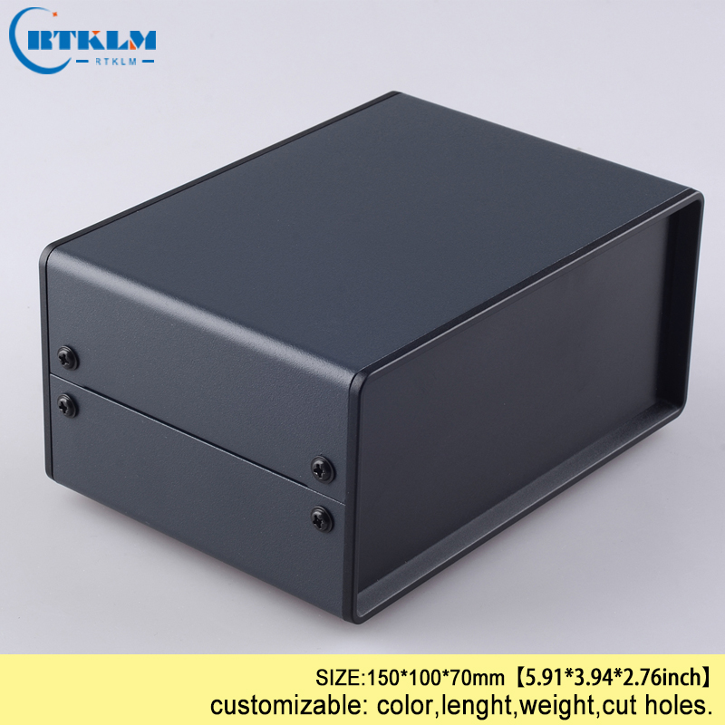 Small Iron Enclosure Electrical Box DIY Iron Junction Enclosure Custom Housing Case Electronics Control Box 150*100*70m 2PCS/LOT