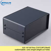 Small Iron enclosure electrical box DIY iron junction enclosure custom housing case electronics control box 150*100*70m 2PCS/LOT